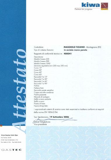 Canne Fumarie con Certificato CE